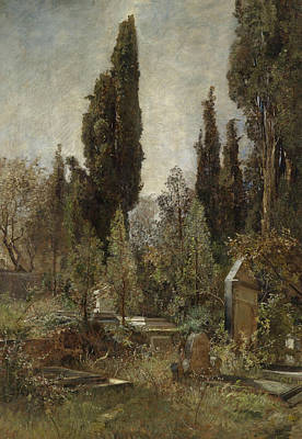 Cemetery Painting - Old Cemetery by Marie Egner