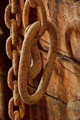 Photograph - Old Chain - 365-358 by Inge Riis McDonald
