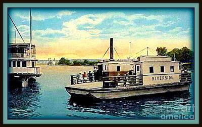 Old Chain Ferry, Kingston N Y, 1905 Art Print