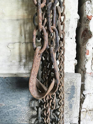 Old Chains Art Print by Tom Gowanlock