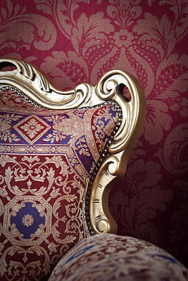 Chairs Tapestries Textiles Photograph - Old Chair. by Andrey  Godyaykin