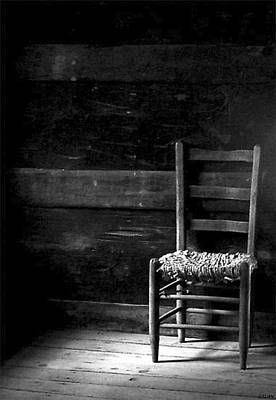 Photograph - Old Chair by Fred Wilson