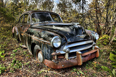 Photograph - Old Chev by CA  Johnson