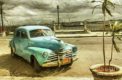 Mixed Media - Old Chevrolet by Daliana Pacuraru