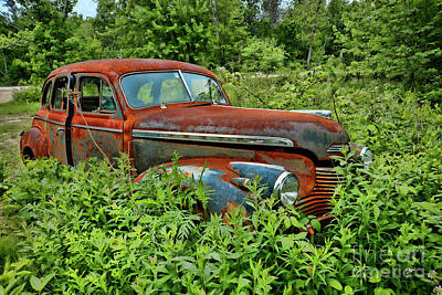 Photograph - Old Chevrolet Suicide Doors by Alana Ranney