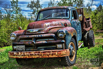 Photograph - Old Chevrolet Truck by Alana Ranney