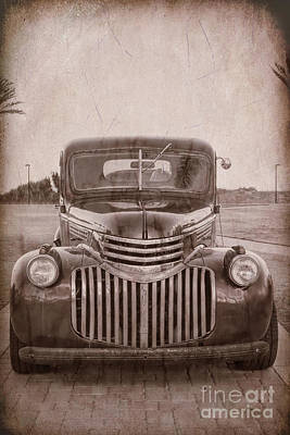Photograph - Old Chevy by Diane Macdonald