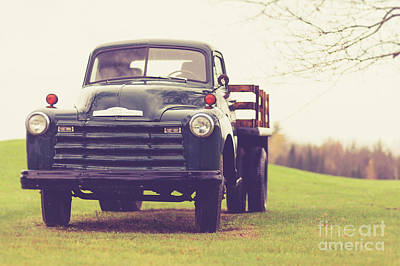 Photograph - Old Chevy Farm Truck In Vermont by Edward Fielding
