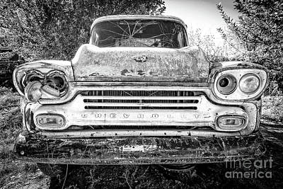 Junk Photograph - Old Chevy Truck by Edward Fielding