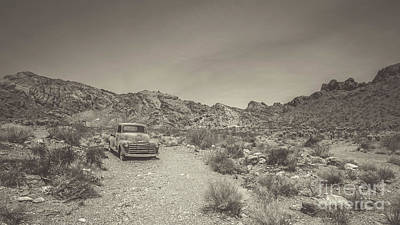 Old Chevy Truck Wall Art - Photograph - Old Chevy Truck In The Desert by Edward Fielding