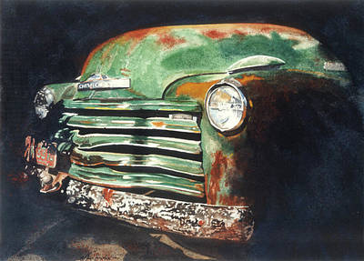 Painting - Old Chevy Truck by Jean Sumption