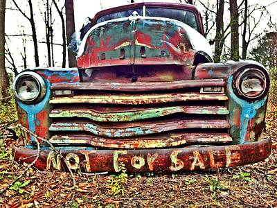 Photograph - Old Chevy Truck With Graffiti by T Lowry Wilson