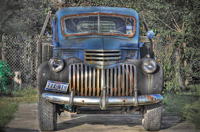 Art Print featuring the photograph Old Chevy Truck by Savannah Gibbs