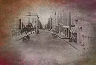 Turn-of-the-century Mixed Media - Old Chicago 01 Street View Textured by Thomas Woolworth