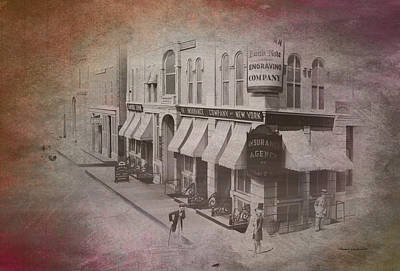 Turn-of-the-century Mixed Media - Old Chicago 02 Street View Textured by Thomas Woolworth