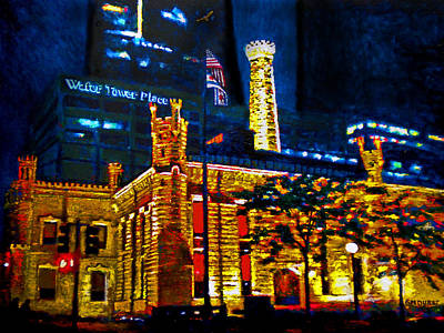 Pumping Station Painting - Old Chicago Pumping Station by Michael Durst
