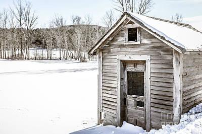 Old Chicken Coop In Winter Art Print