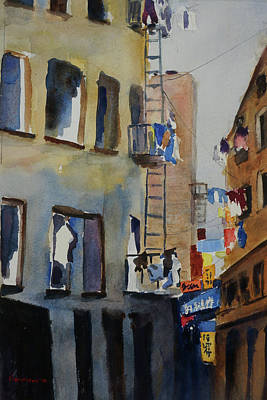 Painting - Old Chinatown Lane by Tom Simmons