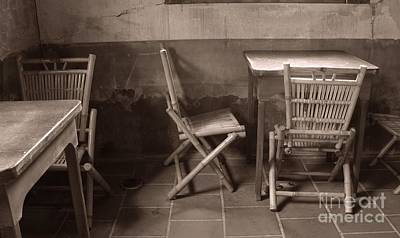 Bamboo Chair Photograph - Old Chinese Teahouse by Yali Shi