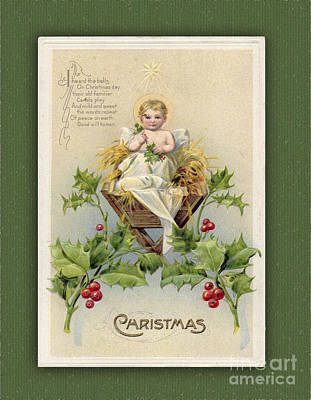 Digital Art - Old Christmas Card by Melissa Messick