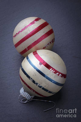 Photograph - Old Christmas Ornaments by Edward Fielding