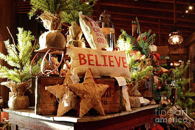 Photograph - Old Christmas Store by Nava Thompson