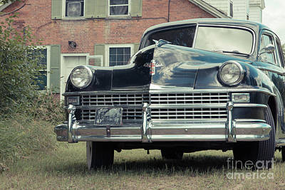 Photograph - Old Chrysler Sedan Windsor Vermont by Edward Fielding