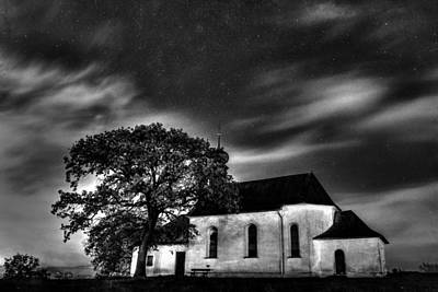 Photograph - Old Church B/w  by Michael Damiani