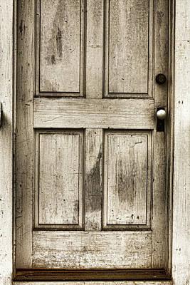 Old Church Door Print by Bonnie Bruno