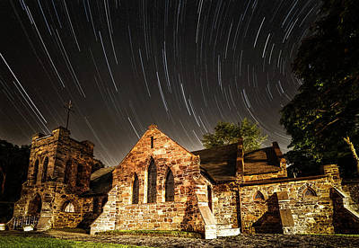 Milky Way Photograph - Old Church by Edgars Erglis