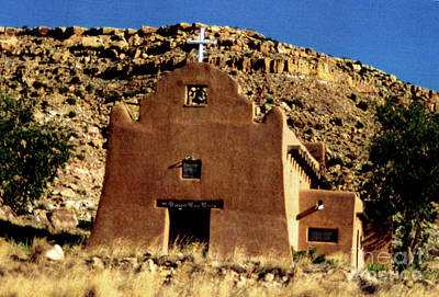 Church On The Hill Photograph - Old Church In New Mexico by Ruth Housley