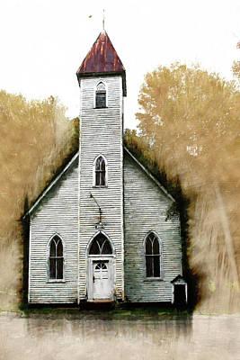 Watercolor Pet Portraits Digital Art - Old Church by Kim Curinga
