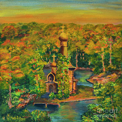 Painting - Old Church On The River by Olga Hamilton