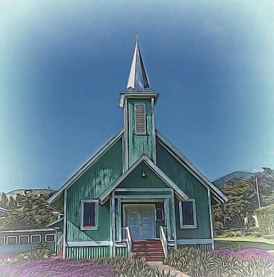 Mixed Media - Old Church by Pamela Walton