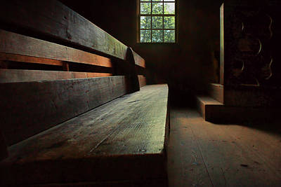 Photograph - Old Church - Pew by Nikolyn McDonald