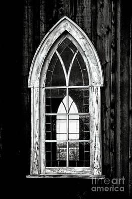 Art Print featuring the photograph Old Church Window by Brad Allen Fine Art