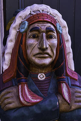 Photograph - Old Cigar Store Indian by Garry Gay