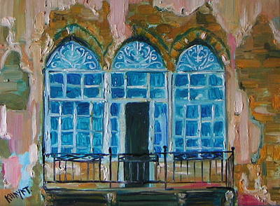 Painting - Old City Acre by Marwan  Khayat