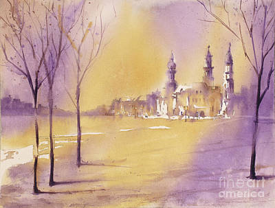 Painting - Old City At Dusk by Ryan Fox