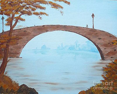 Old City Bridge Art Print
