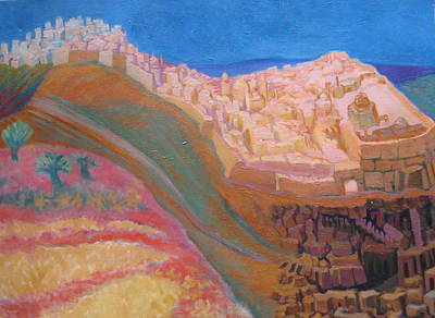Wall Art - Painting - Old City Development by Inge Klimpt