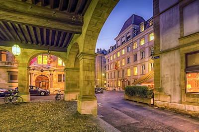 Photograph - Old City, Geneva, Switzerland,  Hdr by Elenarts - Elena Duvernay photo