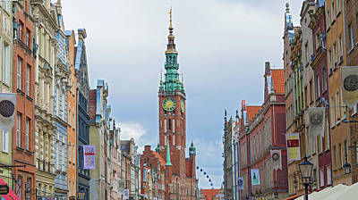 Photograph - Old City Hall Gdansk, Poland. by Marek Poplawski