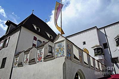 Photograph - Old City Hall Of Hall In Tirol by Elzbieta Fazel