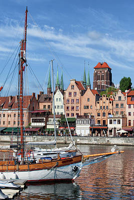 Danzig Photograph - Old City Of Gdansk River View by Artur Bogacki