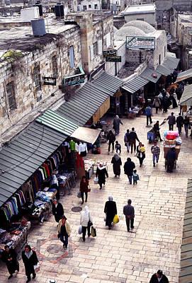 Jaffa Photograph - Old City Of Jerusalem From Above The Jaffa Gate by Thomas R Fletcher
