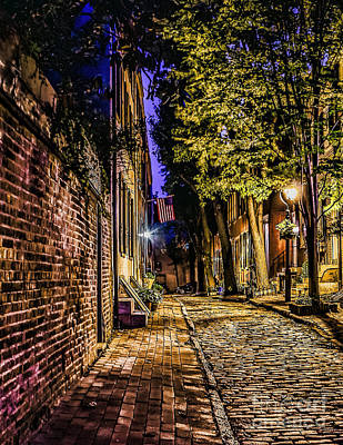 Photograph - Old City Street At Night by Nick Zelinsky