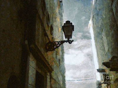 Painting - Old City Street by Dimitar Hristov
