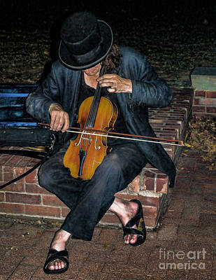 Photograph - Old City Street Musician  by Nick Zelinsky