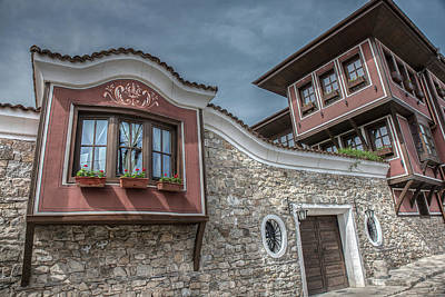 Photograph - Old City Street View With Colorful Buildings In Plovdiv, Bulgaria by Julian Popov